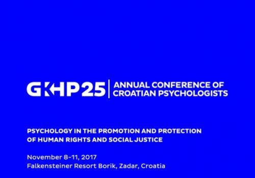 INFORMACIJA  o sudjelovanju na 25. godišnjoj konferenciji hrvatskih psihologa u Zadru