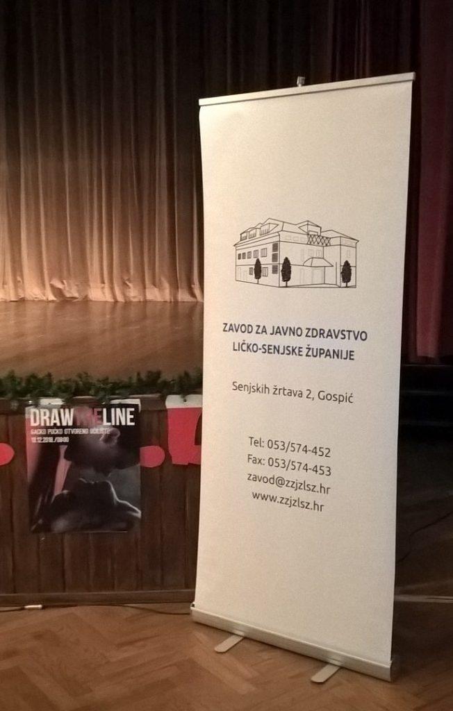 Plesnim performansom Draw the line zatvoren ovogodišnji program obilježavanja Mjeseca borbe protiv ovisnosti u Ličko-senjskoj županiji