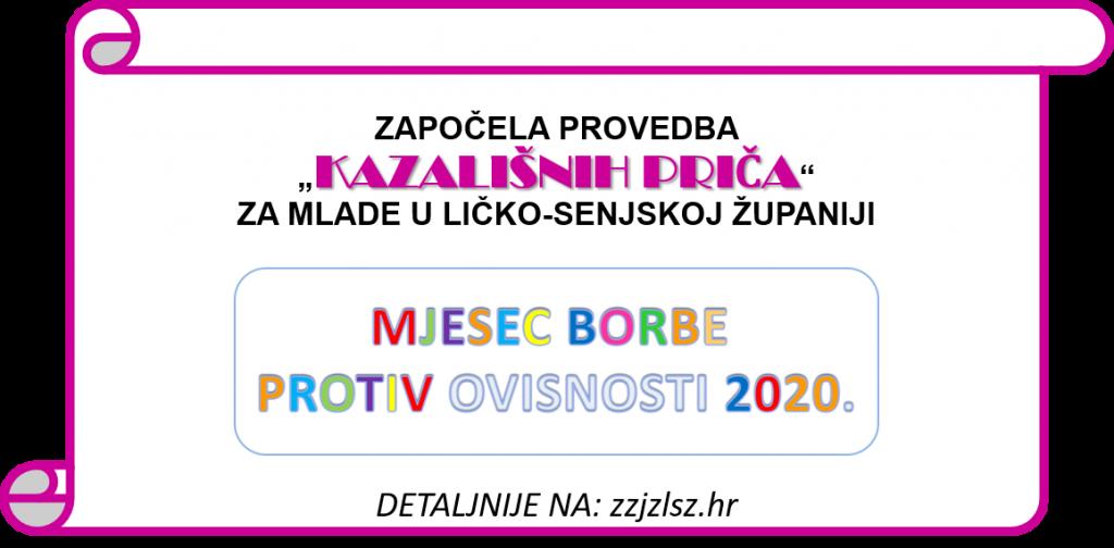"""ZAPOČELA PROVEDBA """"KAZALIŠNIH PRIČA"""" ZA MLADE U LIČKO-SENJSKOJ ŽUPANIJI"""